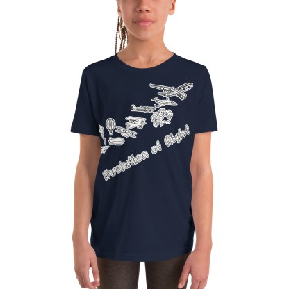 airplaneTees Evolution of Flight Youth Tee... Short Sleeve 2