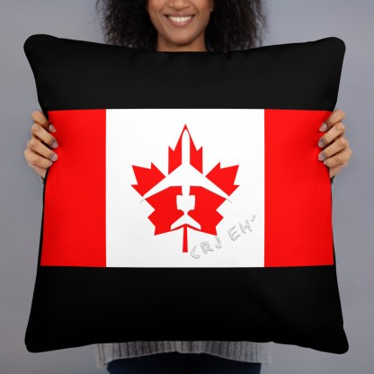airplaneTees Canada CRJ eh Pillow - Different Images on each side 1