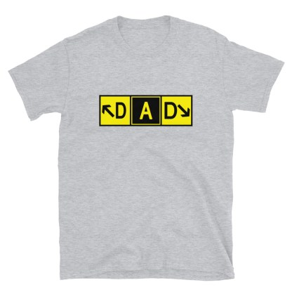 airplaneTees DAD Taxiway Art Tee... Short-Sleeve Unisex T-Shirt 1
