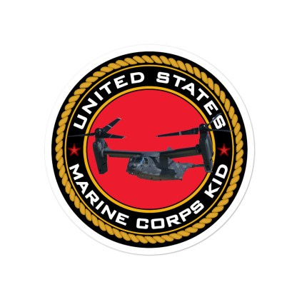 airplaneTees US Marine Corps Kid Stickers... Bubble-free 3