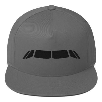 airplaneTees Airbus Flightdeck Windows Cap... Flat Bill 1