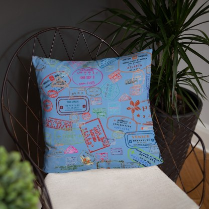 airplaneTees Going Places Pillow - Light Blue 17
