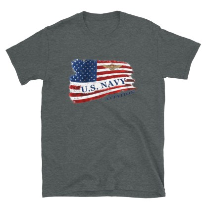 airplaneTees US Navy Aviation American Flag Tee... Short-Sleeve Unisex 9