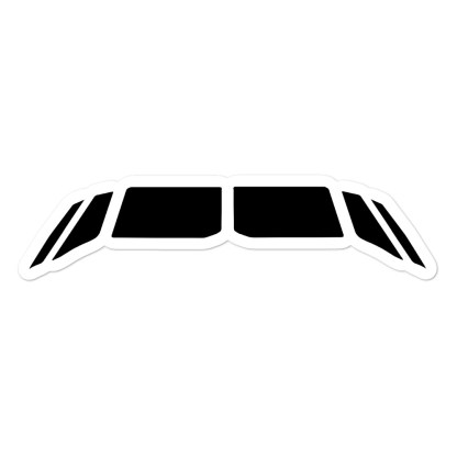 airplaneTees Airbus flightdeck windows stickers... Bubble-free 1