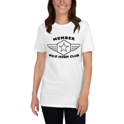airplaneTees Member Mile High Club Tee Short-Sleeve Unisex 3