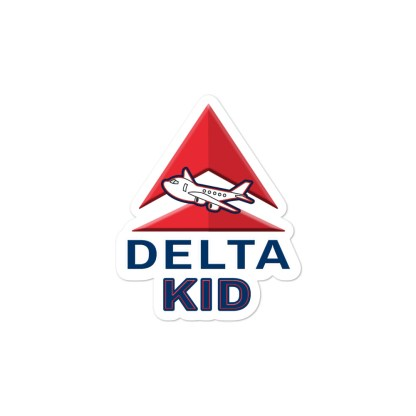 airplaneTees Delta Kid Stickers... Bubble-free 2