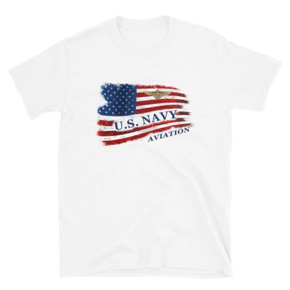airplaneTees US Navy Aviation American Flag Tee... Short-Sleeve Unisex 7