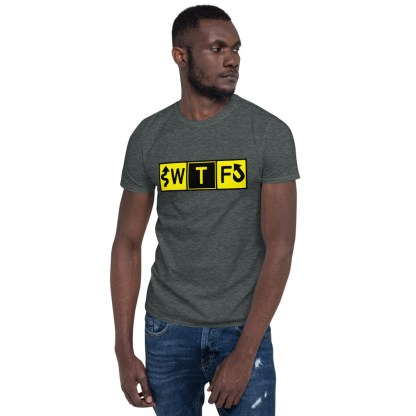 airplaneTees WTF Taxiway Sign... Short-Sleeve Unisex T-Shirt 2