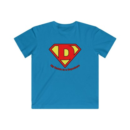 airplaneTees My Dadda is a Superhero Tee - Kids Fine Jersey 3