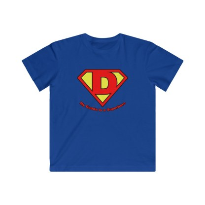 airplaneTees My Dadda is a Superhero Tee - Kids Fine Jersey 1