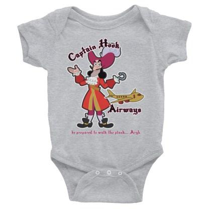 airplaneTees Captain Hook Airways Onesie... Infant Bodysuit 1