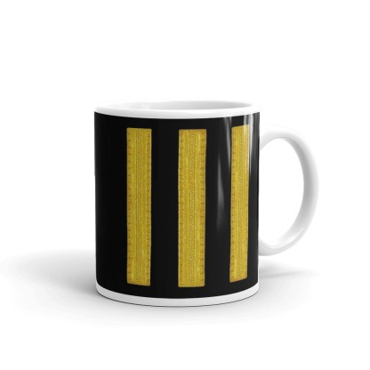airplaneTees Delta Airlines First Officer Coffee Mug 2