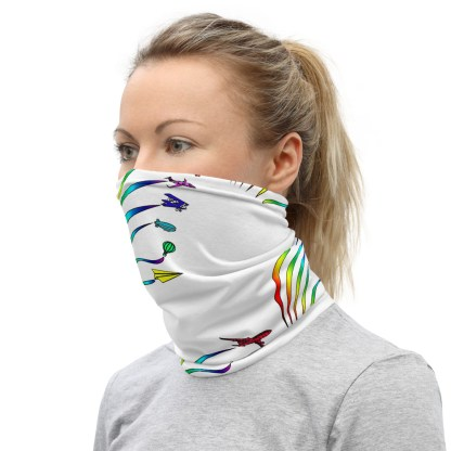 airplaneTees Flight Path of Pride Face Mask/Face Covering/Neck Gaiter 1