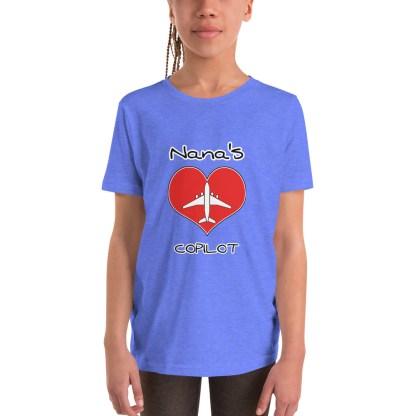 airplaneTees CUSTOM Nana's CoPilot, Grannies CoPilot, Papa's CoPilot Tee Youth Short Sleeve 2