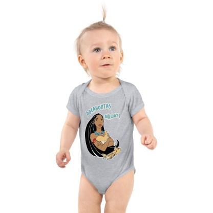 airplaneTees Pocahontas Airways Onesie... Infant Bodysuit 3