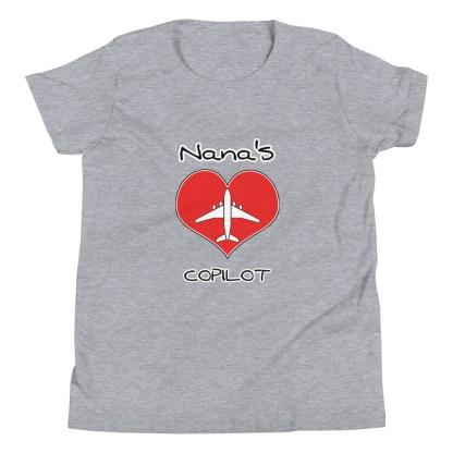 airplaneTees CUSTOM Nana's CoPilot, Grannies CoPilot, Papa's CoPilot Tee Youth Short Sleeve 7