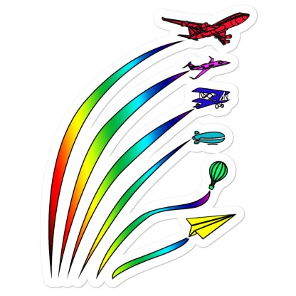 airplaneTees Flight Path of Pride Stickers... Bubble-free 1