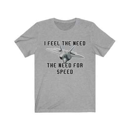 airplaneTees I feel the need the need for speed tee - Unisex Jersey Short Sleeve 1