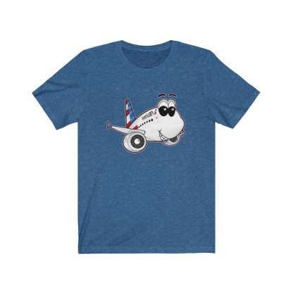airplaneTees American Airlines Airbus A321 Smiley Tee... Adult Unisex 9