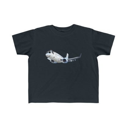 airplaneTees Happy 737 Toddler Tee - Kid's Fine Jersey 4