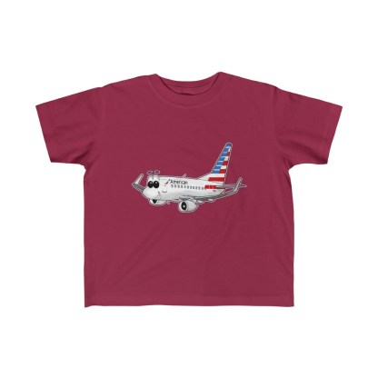 airplaneTees American Airlines Smiley 737 Toddler Tee... Kid's Fine Jersey 1