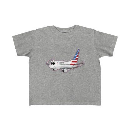 airplaneTees American Airlines Smiley 737 Toddler Tee... Kid's Fine Jersey 3