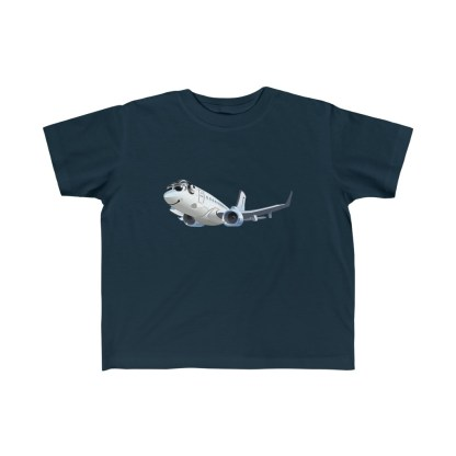 airplaneTees Happy 737 Toddler Tee - Kid's Fine Jersey 1