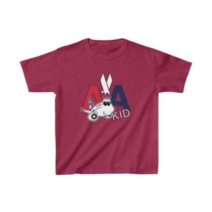 airplaneTees AA Kid Youth Tee Airbus... Kids Heavy Cotton™ 11