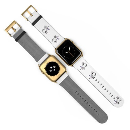 airplaneTees American Airlines Airbus Smiley Apple Watch Band 27