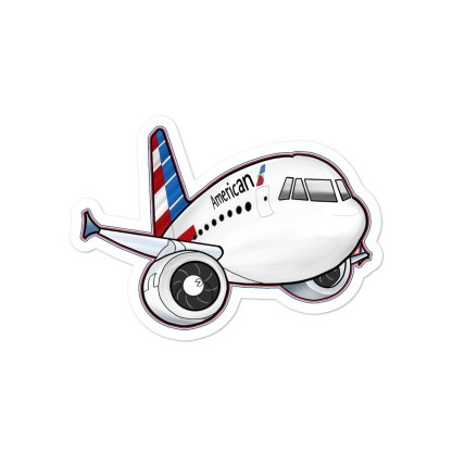 airplaneTees American Airbus stickers... Bubble-free 2