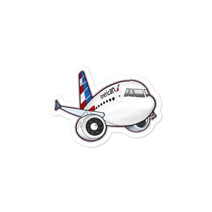 airplaneTees American Airbus stickers... Bubble-free 1