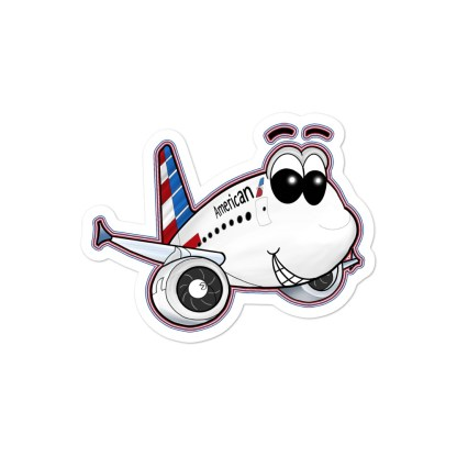 airplaneTees American Airbus Smiley Stickers... Bubble-free 3