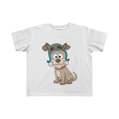 airplaneTees Doggie Pilot Toddler Tee... Kid's Fine Jersey Tee 2