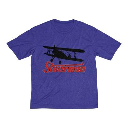 airplaneTees Stearman Tee... Men's Heather Dri-Fit 8