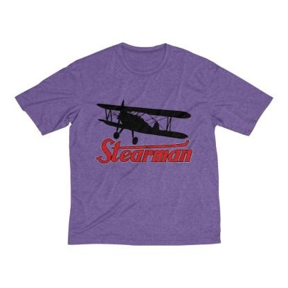 airplaneTees Stearman Tee... Men's Heather Dri-Fit 9
