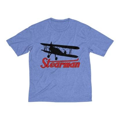 airplaneTees Stearman Tee... Men's Heather Dri-Fit 1