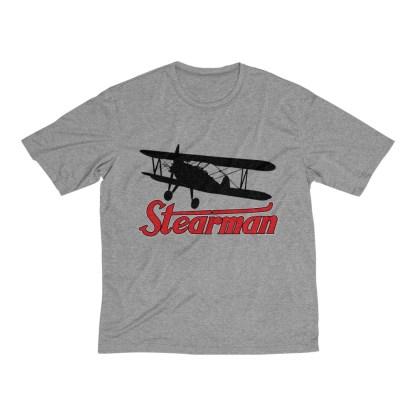 airplaneTees Stearman Tee... Men's Heather Dri-Fit 2