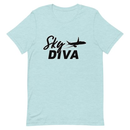 airplaneTees Sky Diva Tee... Short-Sleeve Unisex Black 1