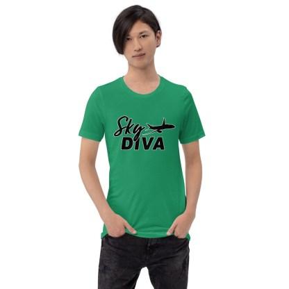 airplaneTees Sky Diva Tee... Short-Sleeve Unisex Black 2