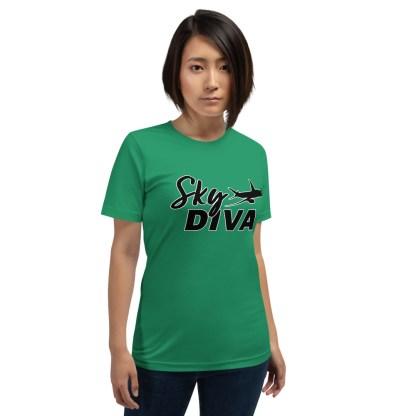 airplaneTees Sky Diva Tee... Short-Sleeve Unisex Black 4