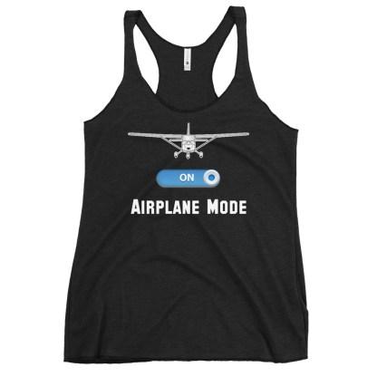 airplaneTees GA Airplane Mode tank top... Women's Racerback 5