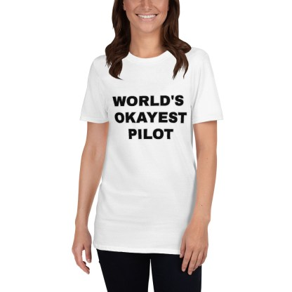 airplaneTees Worlds Okayest Pilot Tee... Short-Sleeve Unisex 4