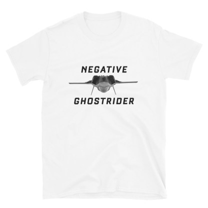airplaneTees Negative Ghostrider Tee... Short-Sleeve Unisex 5