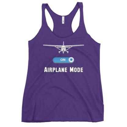 airplaneTees GA Airplane Mode tank top... Women's Racerback 10