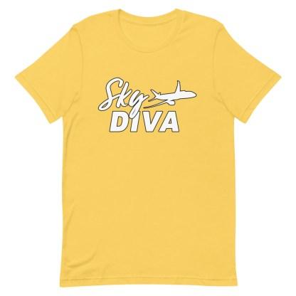 airplaneTees Sky Diva Tee... Short-Sleeve Unisex White 14