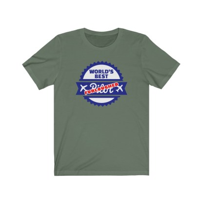 airplaneTees Worlds best furloughed pilot tee... Unisex Jersey Short Sleeve 5