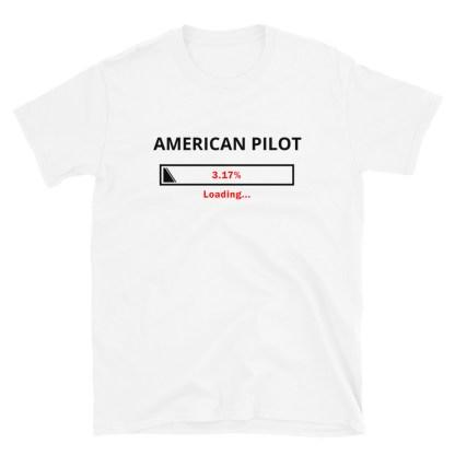airplaneTees Custom American Pilot Loading Tee... Short-Sleeve Unisex 6