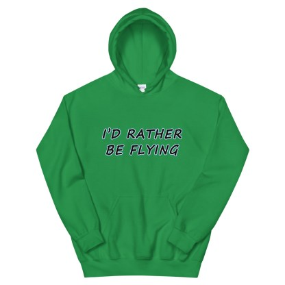 airplaneTees Id rather be flying Hoodie - Unisex 9