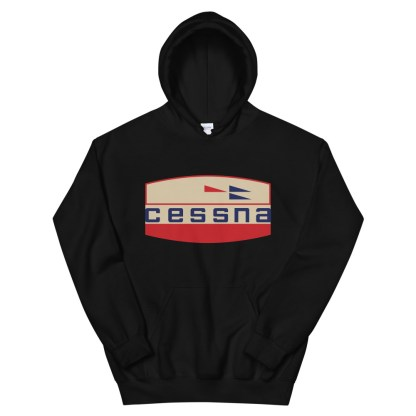 airplaneTees Old Cessna Logo Hoodie - Unisex 4