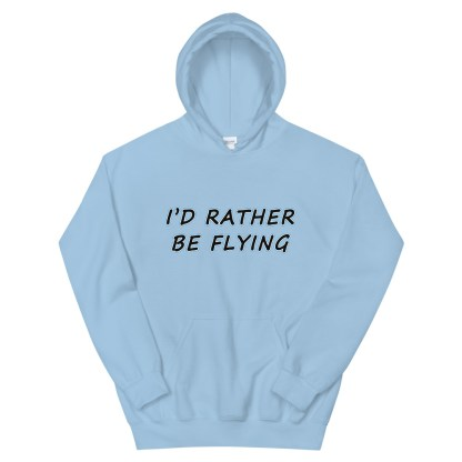 airplaneTees Id rather be flying Hoodie - Unisex 12